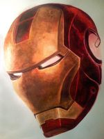 Iron Man - Watercolor by Xantiel