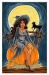 Witchy pin-up by shisleya