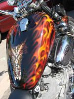 Dragon bike airbrush by pas-designs