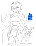 Ready Player One: Art3mis (Sketch Commission) by RobertoJOEL1307