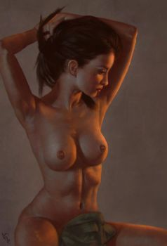 Female Torso 4 Day #249 by AngelGanev
