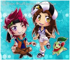 AT::. Chibi Pokemon Mary and  Johnny by Priss-BloodEmpress