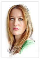 Gillian Anderson by kenernest63a