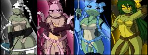 .:TMNT Turtle girls:. by Dawnrie