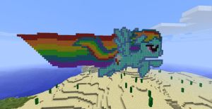 Minecraft Pixel Art Series - Rainbow Dash by LoneSilverwind