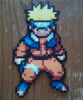 Naruto made from perler beads by yolei-s
