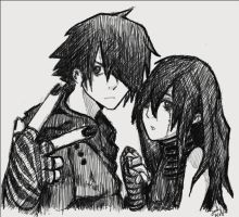 Emo couple by UnicornMuffin