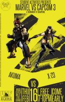 Marvel Vs Capcom 3 Poster Akuma and X-23 by Mathematic-Hack