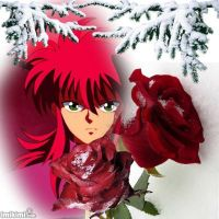 His red rose. by BlueRosePetalsQueen