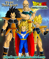 The Saiyans from Universe 13 by ruga-rell