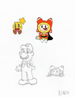 Mario Starlow DreamBert Sketches Colored by Sonicdude645