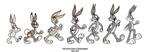 Evolution Of Bugs Bunny 1939 - 2010 by StranglyNormal