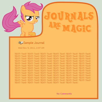 Journals Are Magic - Scootaloo by CassidyCreations