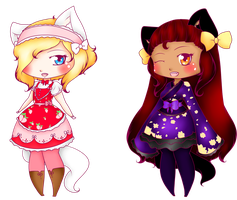 .: Chibi Customs 1+2 :. by SugarLemons-Adopts