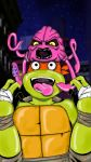 TMNT NInja Turtles Mikey and Krang by nicitadesigns