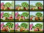 Great harvest at Sweet Apple Acres Collage 02 by Malte279