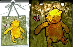 Pooh + Flutterby Sun Catcher by UrsulaPatch
