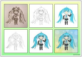 step by step 12 - chibi Miku by JacobMainland