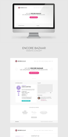 Encore Bazaar Website Concept by leoaw