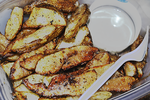 Homemade Wedge Fries with Hidden Valley Ranch by thinminmeg