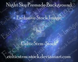 Night Sky PremadeBG by CelticStrm-Stock by CelticStrm-Stock