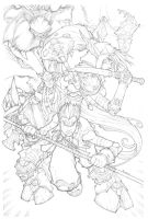 Warcraft 23 Cover Pencils by mikebowden