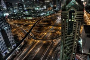 Spagetti Junction Dubai - I by InayatShah