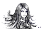 Lady With The Flowing Hair  2 by thepurpleorchid1