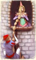 Rapunzel plays hard to get by Alicechan