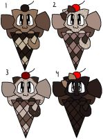 Chocolate ICK 1 point Adopts by Katttty920