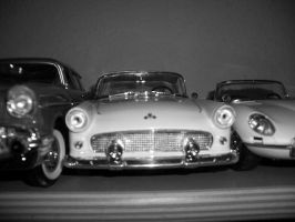 ford thunderbird 55 scale 1 18 in black and white by EnriqueGomez