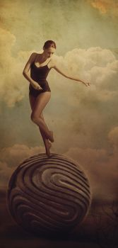Girl On the Ball by LanaTustich