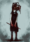 Horror girl auction closed by ElkaArt