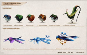 Forgotten Island Aviation Creatures by SamYangArt