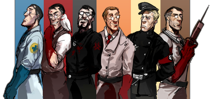 TF2 Medics by Silsol