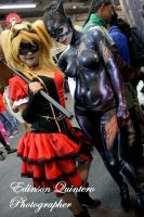 catwoman  Body paint and harley quinn steampunk by Erikakyonlee666