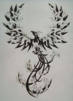Phoenix Tattoo Design by TheMajesticCarnival