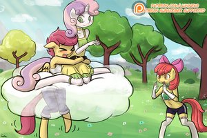(Apple Bloomers) You can do it Scootaloo! by luminaura