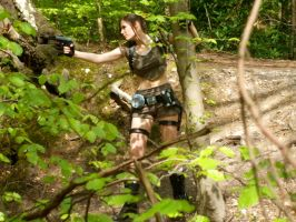 lara Croft - Woodland 2 by BunniKez