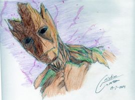 Groot-Guardians of the Galaxy by CristianGarro