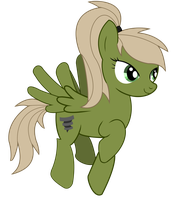 The green Tornado Pony by Ilona-the-Sinister