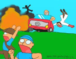 When the heavy dives a car. by Ice-Dragon220
