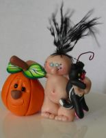 Peapod Halloween by Celtic-Dragonfly