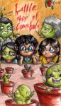 Chibi Hannibal AU - Little shop of cannibals by FuriarossaAndMimma