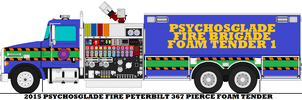 2015 Psychosglade Fire Peterbilt 367 Pierce Foam by mcspyder1