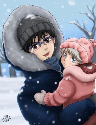 Yuuri and baby by ILITIAFOREVER