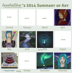 2014 Summary of Art by AesuithielSilver