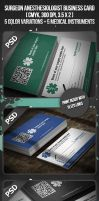 Surgeon Anesthesiologist Business Card by VadimSoloviev