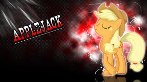 Applejack Fancy Red Apple Wallpaper by ALoopyDuck