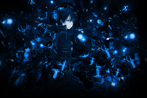 Blue World of Kirito by Aoi-Heart